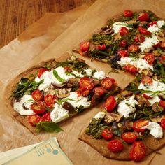 Veggie Pizza With Arugula Pesto - Fitnessmagazine.com