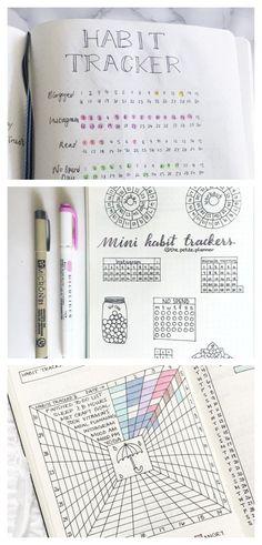 50 Bullet Journal Habit Tracker Ideas - Bullet Journal Spreads - Habit Tracker Layouts