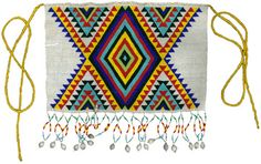 Beaded Apron - Beaded aprons are still worn by Zulu women for traditional ceremonies and rituals; this piece was purchased in a rural crafts marketplace in Hluhluwe. Mavis Gumbi (Zulu), Nompondo, KwaZulu Natal, South Africa. c. 1998. Beads, thread.
