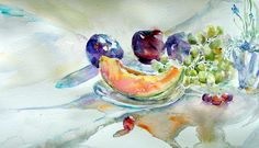 Watercolor Paintings Of Fruits And Vegetables Watercolor
