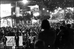 Nov. 27th 1978. Candle Light vigil walk from Castro Street to City Hall. Same route taken by Harvey when Inaugurated.