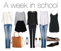 5 outfits for a complete school week. Keeping it classy and simple.