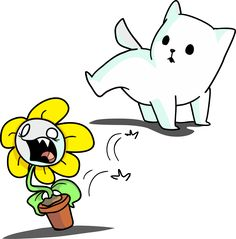 The annoying dog is going to piss Flowey? Undertale Game, Undertale Fanart, Undertale Comic, Skeleton Puns, Flowey The Flower, Popular Cartoons, Underswap, Fandoms Unite, Bad Timing