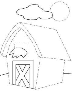Actividades para niños preescolar, primaria e inicial. Fichas con ejercicios de grafomotricidad para niños de preescolar y primaria. Unir puntos y pintar. Grafomotricidad Unir puntos y pintar. 44