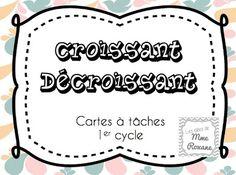 Les idées de Mme Roxane!: Yeah, des cartes à tâches!!