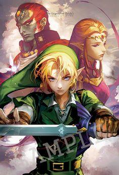 The Legend of Zelda : Ocarina of Time by 수줍 @cocashy #nintendo #fanart
