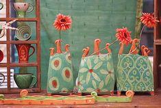 Keramikvasen und Keramikgeschirr