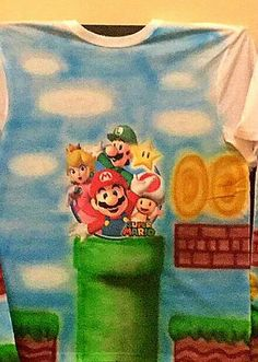 Check out this item in my Etsy shop https://www.etsy.com/listing/422394253/mario-brothers-airbrush-shirt