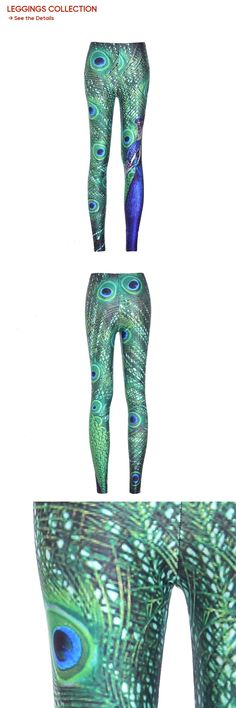 Sexy Lady Woman Stretch Fashion Leggings Plus Size Jeggings Peacock Print Slim New Casual Pants Fitness Size Legging Cheap Leggings, Peacock Print, Leggings Fashion, Jeggings, Casual Pants, Sexy Women, Plus Size, Slim, Clothes For Women