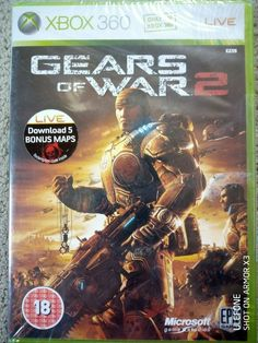 XBOX 360 | Gears of War 2 | Factory Sealed Gears Of War 2, Dvds For Sale, Xbox 360, Seal, The Unit, Harbor Seal, Dolphins