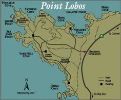 Point Lobos State Reserve Map | Photo Gallery of Point Lobos State Park