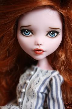 """OOAK Custom Monster High Doll Repaint with Outfit """"Olivia"""" by Artist Sashableu 
