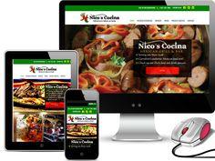 New web Design for Carrolton Texas based Nicos Cocina - www.redspotdesign.com