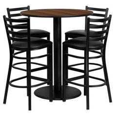 Flash Furniture 5 Piece Pub Table Set
