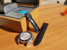 Premium vintage inspired real alligator crocodile leather watch band strap in Jewellery & Watches, Watches, Parts & Accessories, Watch Bands Leather Watch Bands, Crocodile, Leather Shoes, Vintage Inspired, Watches, Ebay, Accessories, Leather Dress Shoes, Crocodiles