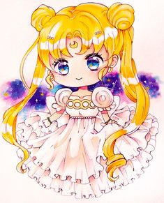 Sailor Moon Stars, Sailor Moon Fan Art, Sailor Moon Usagi, Sailor Moon Character, Sailor Moon Crystal, Anime Chibi, Kawaii Anime, Princesa Serenity, Sailor Moom