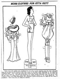 Etta Kett | ETTA KETT Paper Dolls, 1932