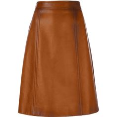 Prada panelled A-line skirt (3,725 PEN) ❤ liked on Polyvore featuring skirts, bottoms, prada, brown, knee length skirts, high waisted skirt, brown a line skirt, high-waisted flared skirts and high waisted a line skirt