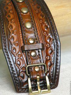 Купить Браслет из кожи растительного дубления - bracelet, leather bracelet, bangle, leathercraft