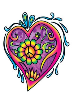 Image detail for -retro peace sign heart. I want this!