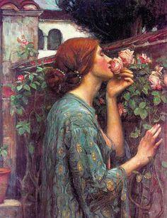 waterhouse | Smelling-a-Rose-Waterhouse
