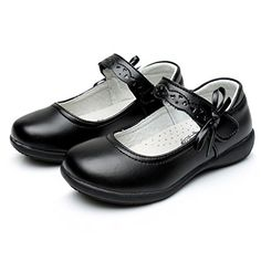 855cd3167d0 WQINSHOE Girls Oxford Shoes Cushioned collar School Uniform Dress Shoes with  Bowknot Black Cosplay Simple