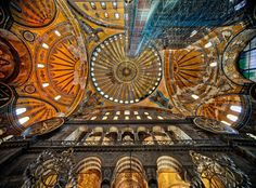 The beautiful ceiling of the Hagia Sophia. You may remember this shot from when I set my camera on the floor and used the timer in the FB Live video.