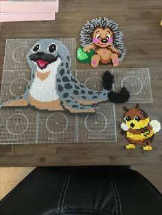 Hama Beads Design, Diy Perler Beads, Hama Beads Patterns, Perler Bead Art, Pearler Beads, Beading Patterns, Hama Beads Animals, Beaded Animals, Pixel Crochet Blanket