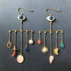 A Grainne Morton creation - pair of earrings made for @ny_now.