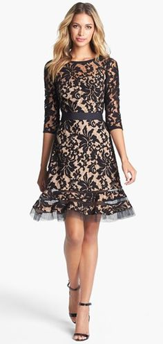 This gorgeous lace dress is a showstopper. #lace #rehearsaldinnerdress #stunning