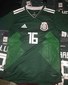 46bd1ffd05e Details about ADIDAS MEXICO LONG SLEEVE HOME JERSEY WORLD CUP 2018