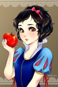Si les princesses Disney étaient des personnages de manga