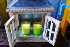 keväiset limenväriset kynttilät