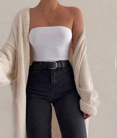Adrette Outfits, Winter Fashion Outfits, Girly Outfits, Retro Outfits, Simple Outfits, Look Fashion, Stylish Outfits, Korean Fashion, Fashion Tips