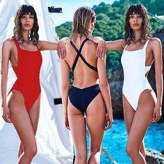 2016 hot sale Sexy bodysuit alta corte um pedaço swimsuit Backless Swimwear Mulheres maiô Monokini Beachwear Bathingsuit em One-Piece Ternos de Sports & Entretenimento no AliExpress.com | Alibaba Group