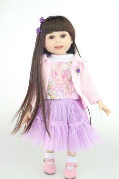 Vinyl Silicone Reborn Baby Doll 18Inch /45cm Handmade Brand Doll  Lifesize Baby Doll Toy For Girls Fashion Doll Christmas Gift