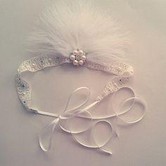 Ivory 1920s Great Gatsby Headband - Off-white 1920 Headband - Miss S-a Headbands
