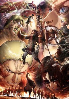 Shingeki no kyojin 3 part 2 ( attack on titan season 3 part 2 ) hd english subbed - kawaiifu Attack On Titan Season 2, Attack On Titan Anime, Arte Final Fantasy, Tokyo Ghoul Cosplay, Anime Episodes, Levi X Eren, Levi Ackerman, Ecchi, New Poster