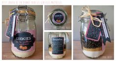 DIY Des cadeaux gourmands pour Noël. Printables Kit Cookies (téléchargement gratuit) (http://www.hellocoton.fr/40-cadeaux-gourmands-a-offrir-pour-les-fetes-g32)