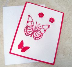 Red and White Handmade Any Occasion Greeting by DJsCraftyCreations