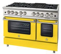 "Blue Star 48"" Range 48 Range, Big Mountain, Yellow, Blue, Kitchen Appliances, Star, Diy Kitchen Appliances, Home Appliances, Kitchen Gadgets"