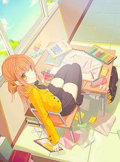 That would be me as a manga girl! Manga Anime, Moe Anime, Manga Girl, Art Kawaii, Manga Kawaii, Kawaii Anime Girl, Anime Girls, Beautiful Anime Girl, I Love Anime