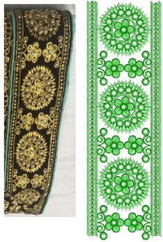 Computerized Embroidery Machine, Machine Embroidery Designs, Types Of Lace, Green Velvet Dress, Lace Embroidery, Lace Design, Textile Design, Textiles, Stitch