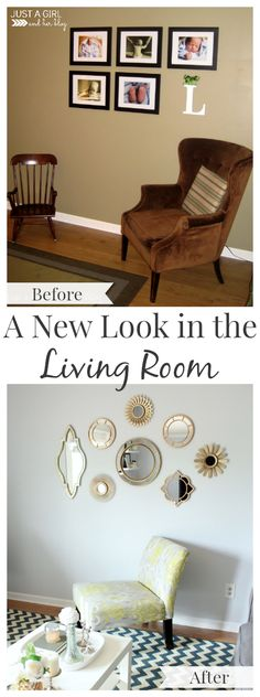 What a difference a little paint can make! Awesome living room transformation! | JustAGirlAndHerBlog.com