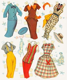 Miss Missy Paper Dolls: Anther 3 Little Girls Who Grew and Grew Paper Dolls Clothing, Barbie Paper Dolls, Vintage Paper Dolls, Fabric Dolls, Doll Clothes, Clothes Crafts, Rag Dolls, Paper Doll Craft, Doll Crafts