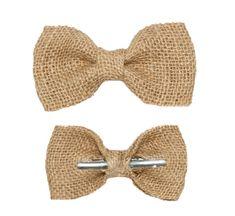 Burlap Bow Tie - Unique Groom + Groomsman Bow Ties