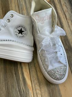 Excited to share this item from my #etsy shop: Converse Platform Move Hi Top Pearl shoes, Embroidered sneaker, Bling Bat Mitzvah shoes, Wedding Bling Sneakers, Bride shoes, Sweet 16 Bling Wedding, Monogram Wedding, Wedding Shoes, Monogram Converse, Converse Hi, All White Shoes, Wedding Sneakers, Pearl Shoes, Bride Shoes