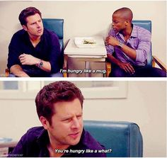 Psych - Shawn and Gus Psych Memes, Psych Quotes, Psych Tv, Movie Quotes, Real Detective, James Roday, Shawn Spencer, I Know You Know, Great Tv Shows