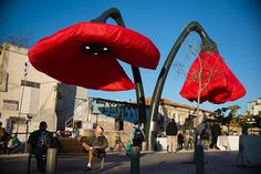 Design Hub - блог о дизайне интерьера и архитектуре: Воздушные маки-фонари на улице Иерусалима