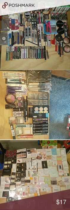 Makeup Bundle Of 4 Pick Your Own Or Mystery Makeup Bundle New of 4 pick your own or do a mystery box Lots Of different Brands  comes with a couple of makeup samples and Message Me about what pictures to Upload So You can pick out what 4 items you want  comes with a free New 1 V.s mini perfume Or 1 Free VS Lipgloss All Makeup Is New And sealed If Theres Any Particular  Indivual Makeup Youd Like To See Dont Hesitate To Ask Thanks Have a great weekend Message Me On  here When Your ready to…